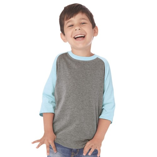 Next Level Youth CVC Three-Quarter Sleeve Raglan T-Shirt - 3352