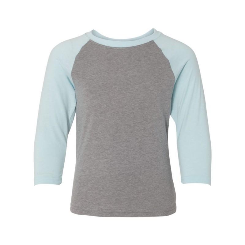 Next Level Youth CVC Three-Quarter Sleeve Raglan T-Shirt - 3352