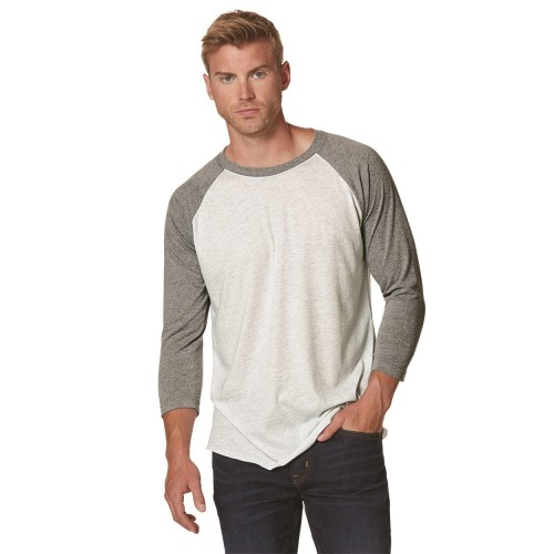 Next Level Unisex Tri-Blend Three-Quarter Sleeve Baseball Raglan Tee - 6051